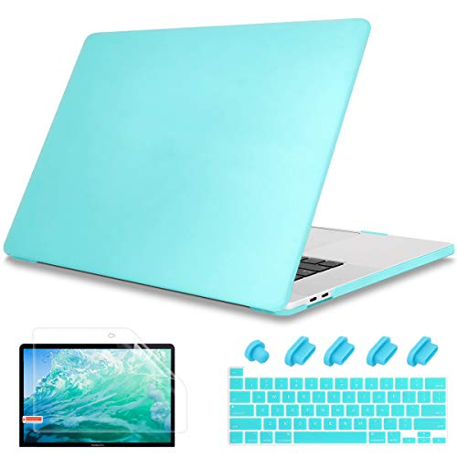May Chen for New MacBook Pro 13 inch Case 2020 Release Model A2289 A2251,PC Hard Shell Case Cover with Keyboard Cover for MacBook Pro 13' with Touch Bar,Mint Green
