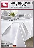 Damast Tischdecke weiß – 130 x 280 cm – bei 95°C waschbar - 4