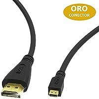 ICZI Cable Micro HDMI a HDMI, Conductor HDMI a Micro HDMI 4K con Contactos chapados en Oro de Alta Velocidad con Ethernet y Retorno de Audio para Pantallas, HDTV, Monitores y Proyectores, 1.8m