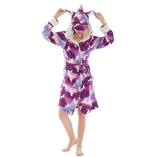 MJTP Albornoz con Capucha de Pijama de Unicornio, Pijama de Franela Traje de Estilo de Dibujos Animados en 3D Traje de Mono con Capucha para Cosplay