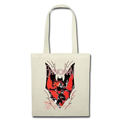 Spreadshirt Batwoman in Aktion Emblem Stoffbeutel, Natur