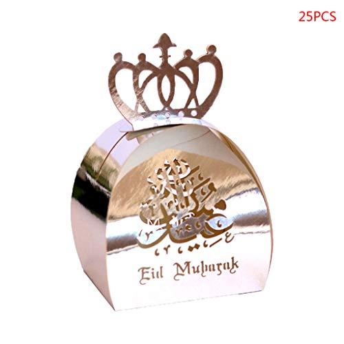 FKY Koehope 25 stuks snoepgoed doos chocolade geschenkdoos Eid Ramadan partydecoraties cadeaumanden bruiloft geschenkdozen party Supplies