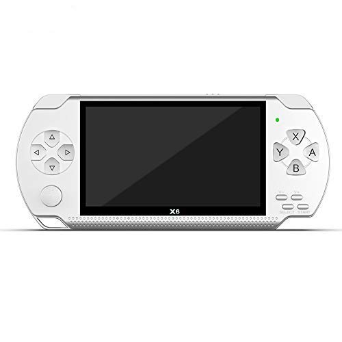DesirePath Handheld Game Console,8GB 4.3-inch 32-bit Portable 10000 Classic Game PSP Handheld Game Mp5 Audio Player Retro Portable Video Game Console White