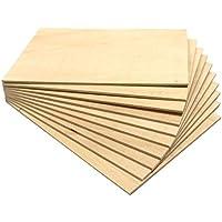 Chely Intermarket tablero madera contrachapado de 40x60 cm/4 mm-grosor/1 tablero/, chapas de abedul lijado en ambas caras. Especial para cortes con láser, CNC, Pirograbado y Calado(552-40x60-0,45)