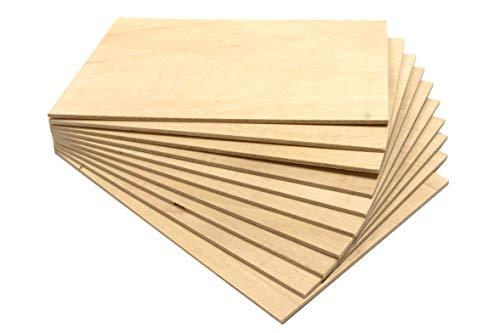 Chely Intermarket tablero madera contrachapado de 40x60 cm/4 mm-grosor/1 tablero/, chapas de abedul lijado en ambas caras. Especial para cortes con láser, CNC, Pirograbado y Calado(557-40x60-0,45)