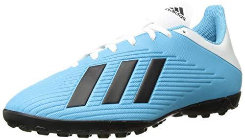 adidas Men's X 19.4 Turf Soccer Shoe, Bright Cyan/Black/Shock Pink, 10 UK