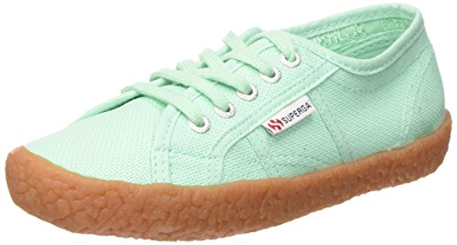 Superga 2750-Naked Cotj, unisex-child Sportschuhe, grün (Verde (Pastel Green)), 33 EU
