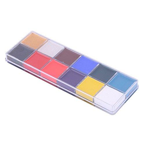 Vococal® 12 Couleurs Peinture à Huile Maquillage Corporel Visage Oil pour Halloween Peinture Corporelle Masquerade Party