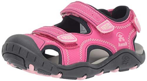 Kamik Mädchen Seaturtle2 Geschlossene Sandalen, Pink (Pink Pin), 34 EU