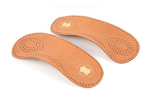 Plantillas Para Zapatos Desodorante Suela 1 par de plantillas ortopédicas de cuero Pies planos para hombres y mujeres Plantilla de soporte de arco para VARUS VALGUS Tacón de calzado Zapatos a prueba d