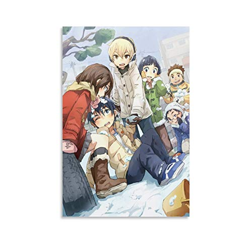 XIAOG Anime Erased 4 Poster Decorative Painting Canvas Wall Art Living Room Posters Bedroom Painting 12x18inch(30x45cm)