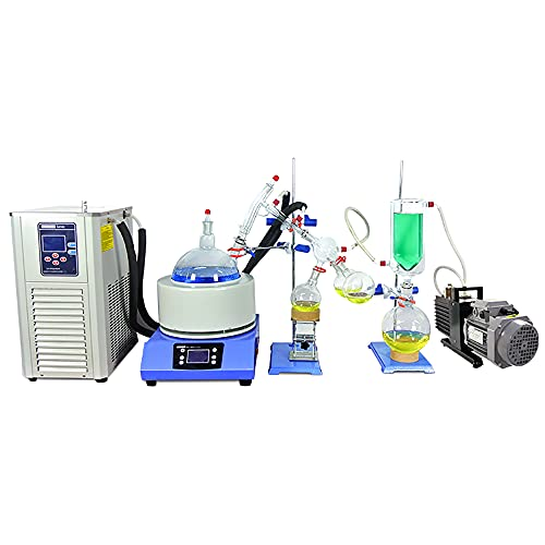 HNZXIB 5L Short Path Distillation Kit with 5L Cooling Chiller and 4CFM Vacuum Pump