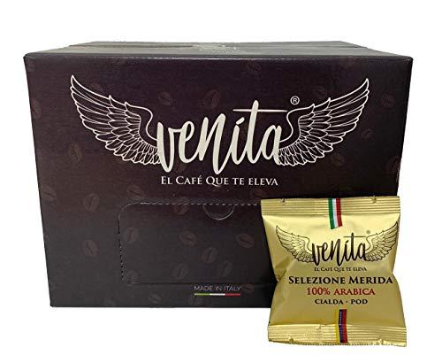 Venita Café Gourmet 100% Arábica en Cialdas de Café Expreso, Caja de 50 Monodosis de 7,5 Gramos Cada Una