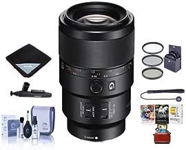 Sony FE 90mm f/2.8 Macro G OSS Lens - Bundle with 62mm Filter Kit, Lens Wrap, LensPen Lens Cleaner, Cleaning Kit, Lens Cap Leash - Mac Software Package