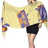 Moda creativa lindo electrodoméstico bufanda ligera mujeres bufandas flecos bufanda abrigo 77x27 pulgadas / 196x68cm grande suave pashmina extra cálido