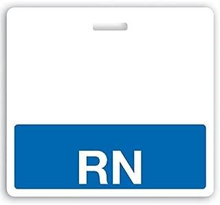RN Horizontal Badge Buddy with Blue Border