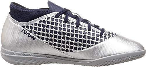 Puma Future 2.4 IT Jr, Zapatillas de Fútbol Unisex Niños, Plateado Silver-Peacoat 03, 28 EU