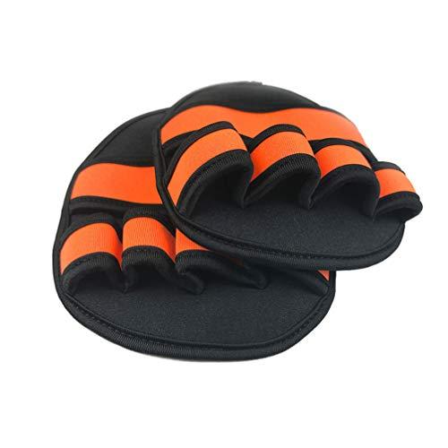 LIOOBO 1 Paar Gewichtheberhandschuhe mit Handballenauflage für das Training im Fitnessstudio