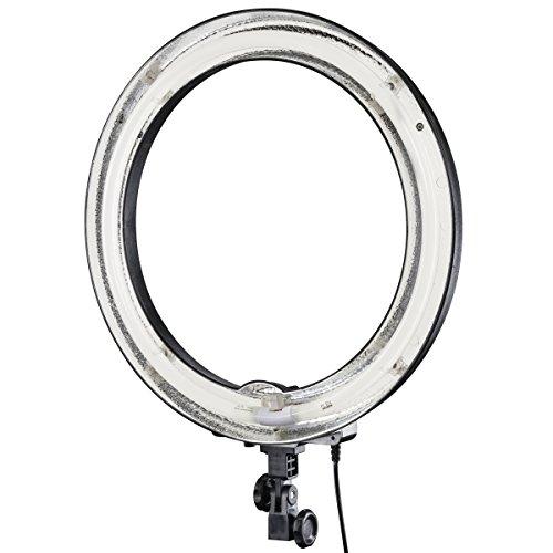 Walimex 17626 - Anillo de luz con Soporte Flexible (Potencia 75 W, diámetro Interior de 37 cm), 5400K Temperatura de Color, Transparente