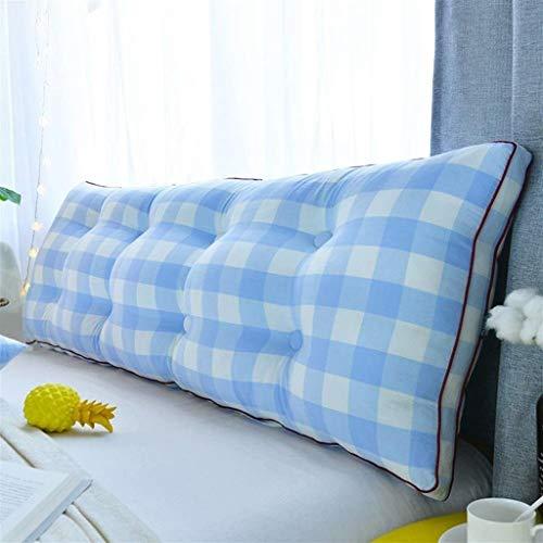 LFOZ Cojín doble para mesita de noche, cojín tapizado para sofá cama, almohada de lectura, respaldo de apoyo de posicionamiento almohada lumbar (color: B, tamaño: 200 x 50 cm)