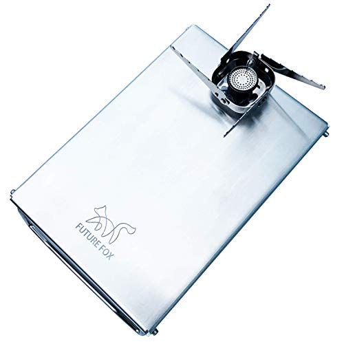 FUTURE FOX イワタニ ジュニアコンパクトバーナー CB-JCB 専用 ステンレス遮熱板 テーブル (シルバー)