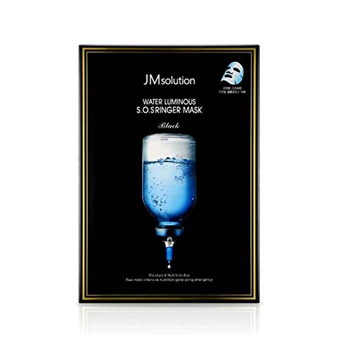 JM Solution Water Luminous S.O.S Ringer Mask Black (Pack of 10)