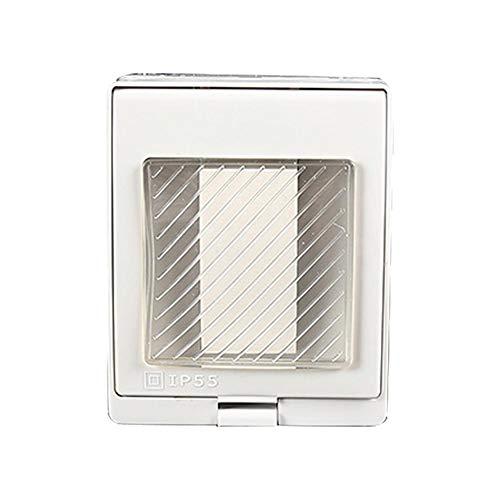 Groust Interruptor de luz individual de doble pared, resistente al agua, IP55, uso empotrado y cubierta, interruptor iluminado, interruptor empotrado y apagado.