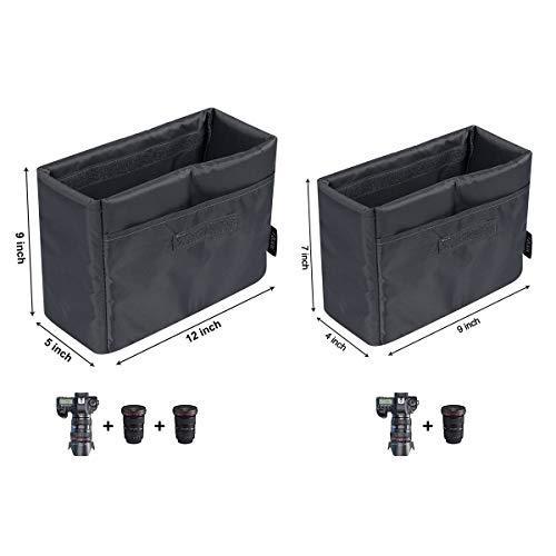 S-ZONE Water Resistant DSLR SLR Camera Insert Bag Inner Case Bag(Medium)