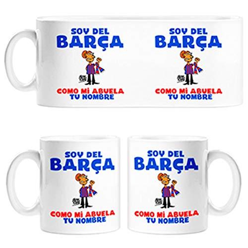 Diver Tazas Taza Frase Parodia Soy del Barcelona como mi Abuela Personalizable con Nombre - Cerámica