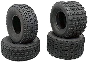 MMG TIRES SET OF FOUR – 2x Front Tires 19x7-8 and 2x Rear Tires 18x9.5-8 Split Knob Tread All Terrains