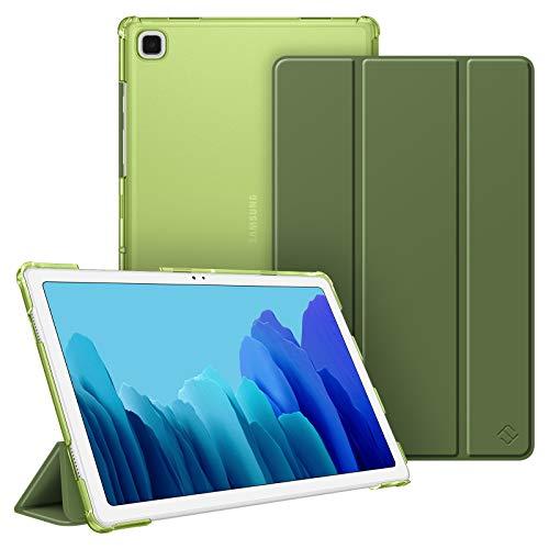 Fintie Funda Compatible con Samsung Galaxy Tab A7 10.4' 2020 - Trasera Transparente Mate Carcasa Ligera con Función de Auto-Reposo/Activación para Modelo de SM-T500/T505/T507, Oliva