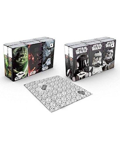 Preisvergleich Produktbild 6x9 papier- Taschentücher - Star Wars / Krieg der Sterne - Die Macht erwacht mit Dir! - Motivaufdruck - 6 x 9 Stück - 4 lagig - ***** 2 verschiedene motiv- sets - auswahl nicht möglich!*****