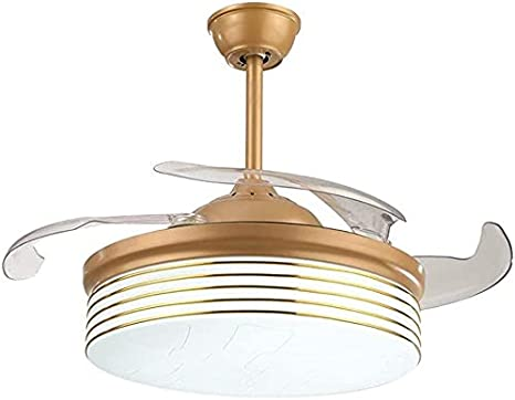 Ventilador de techo con luces ligeras de los ventiladores de techo modernos ABDOMINALES Hoja 3 color DIRIGIÓ Ventiladores de techo invisibles Lámpara 220V 36/42 pulgadas para el salón de la oficina Ve
