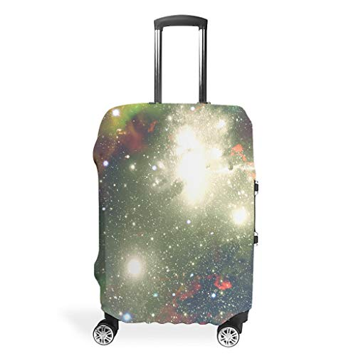 Travel Suitcase Protector - Space Elastic Luggage Cover 4 Sizes Suit for Protective Luggage, White (White) - BTJC88-scc