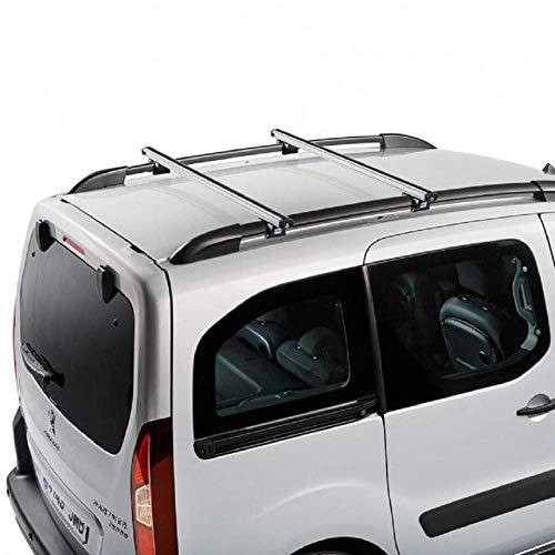 Cruz Fiat Doblo Panorama (II–con Railing) (2010-to Fecha) Heavy Duty Barras de Techo de Aluminio para Furgonetas con Sistema de rieles de Running 2Bar