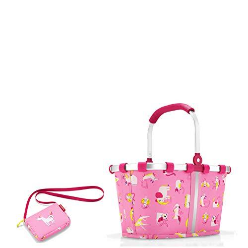 reisenthel Kinder Einkaufskorb/carrybag XS + kleine Tasche (itbag ABC Friends pink)