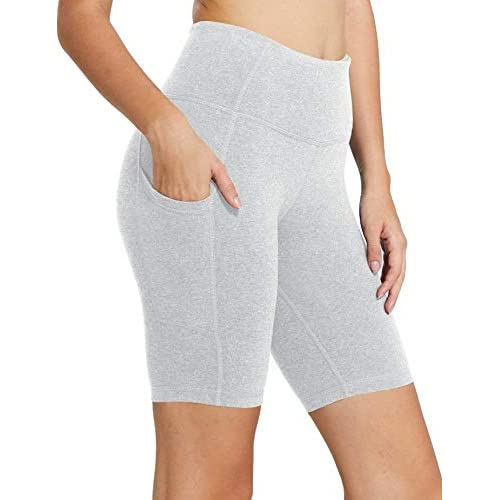 BALEAF Women's 8″ /5″ /4″ High Waist Workout Yoga Volleyball Biker Running Compression Exercise Shorts Side Pockets