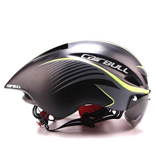cairbull 2017único Desugn casco de ciclismo Bike Racing Casco con gafas de sol ajustable 56cm-61cm, 1