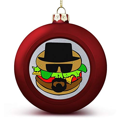 VNFDAS Heisenburger Breaking Bad Custom Christmas ball ornaments Beautifully decorated Christmas ball gadgets Perfect hanging ball for holiday wedding party decoration