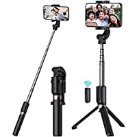 AEDILYS Extendable Selfie Stick with Wireless Remote and Tripod Stand