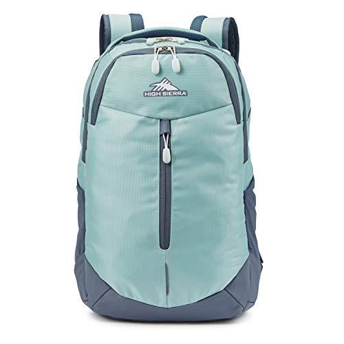 High Sierra Swerve Pro Kids Adult School Backpack Book Bag Travel Laptop Bag with Drop Protection Pocket, Tablet Sleeve, Blue Haze/Gray Blue