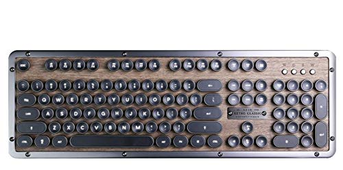 AZIO Retro Classic ELWOOD mechanische Bluetooth Tastatur, vintage look mit deutschem Layout