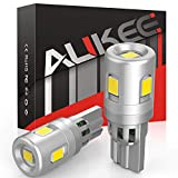 Aukee 194 LED Bulb 6000K White 168 W5W T10 5-SMD 2835 Chips for License Plate Parking Lights (Pack of 2)