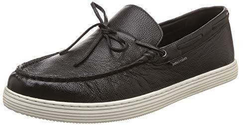 Hush Puppies Men Vitta Black Leather Loafers-9 UK (8546761)