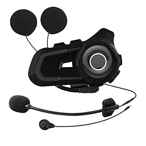 AIHOUSE Auriculares Bluetooth De La Motocicleta, Intercomunicador De Casco De Motocicleta Impermeable A 3 Riders 1000M Sistema De Comunicación De Casco