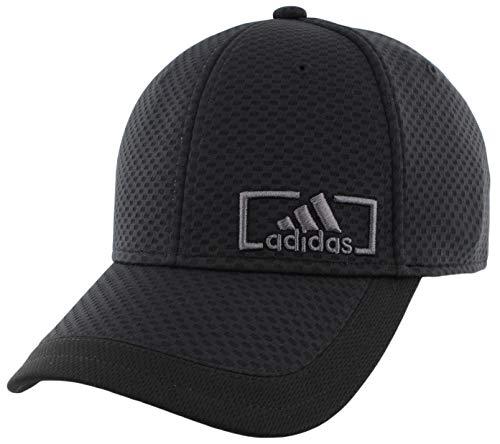 adidas Herren Verstärker Stretch Fit Strukturierte Kappe, Herren, Herren Verstärker Stretch Fit Cap, 975337, Schwarz/Onix, S-M
