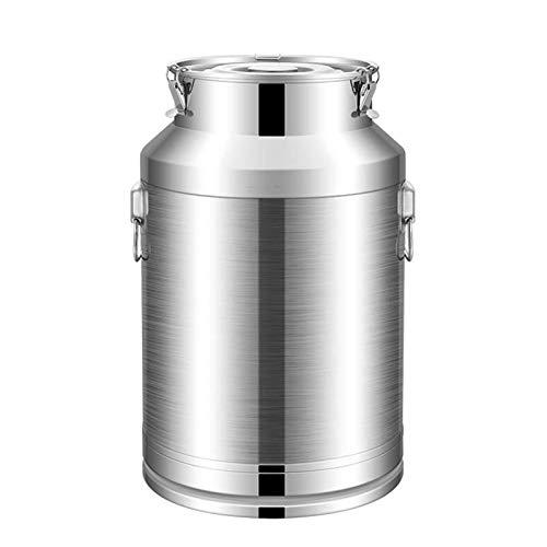 Bote de azúcar de acero inoxidable, cubeta de leche, contenedores de vino en tanque sellado de gran capacidad, depósito de almacenamiento comestible, barril fermentado, aceite de cocina (tamaño: 76 L)