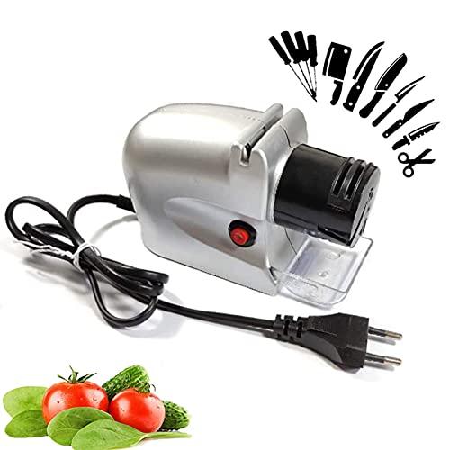 Afilador de Cuchillos de Cocina, afilador de Cuchillos eléctrico motorizado, Herramienta de Afilado de Piedra giratoria para Uso doméstico y de Chef