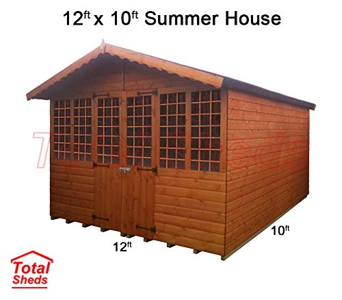 Total Sheds 12ft (3.6m) x 10ft (3m) Summer House Cabin Supreme Cabin