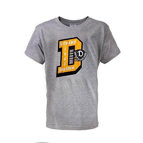 SG Dynamo Dresden Kinder-Shirt Logo D grau, Größe:98-104/3-4